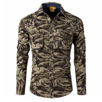 High Quality Camouflage Men S Shirts Spring Autumn New Long Sleeved Outdoor Casual Military Cotton Men