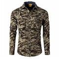 Camuflaje de la alta calidad camisas de los hombres de Primavera otoño nueva camisa de manga larga ocasional de la camisa de algodón para hombres Marca Militar