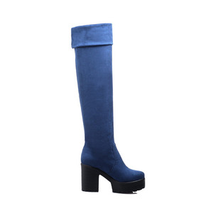 Image 5 - MORAZORA Three colors womens boots in spring autumn platform boots female fashion over the knee boots high heels big size 34 43