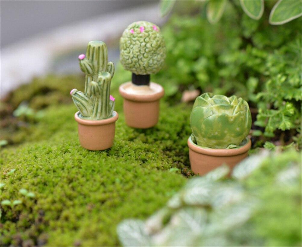 NEW 1:12 Mini Miniature Green Plant In Pot For Dollhouse Furniture Decoration Home Decor Succulent plants Hot Sale