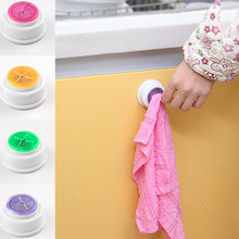 Hot wall shelf Wash cloth clip holder clip dishclout storage rack bath room storage hand towel rack Bathroom Kitchen Supplies(China)