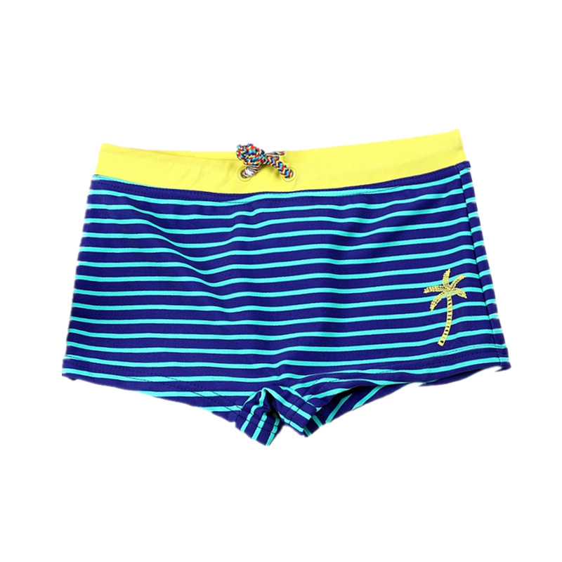 Summer Boys Swimming Trunks Shark Stripe Boxers Swim Shorts Pants Swimwear Kids