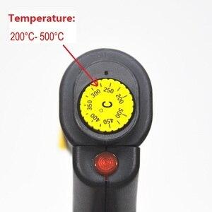 Image 2 - Griff Elektrische Eisen kuchen mark heißer Folie Stempel drücken präge maschine Druck logo Branding elektrische lötkolben 500W 220V