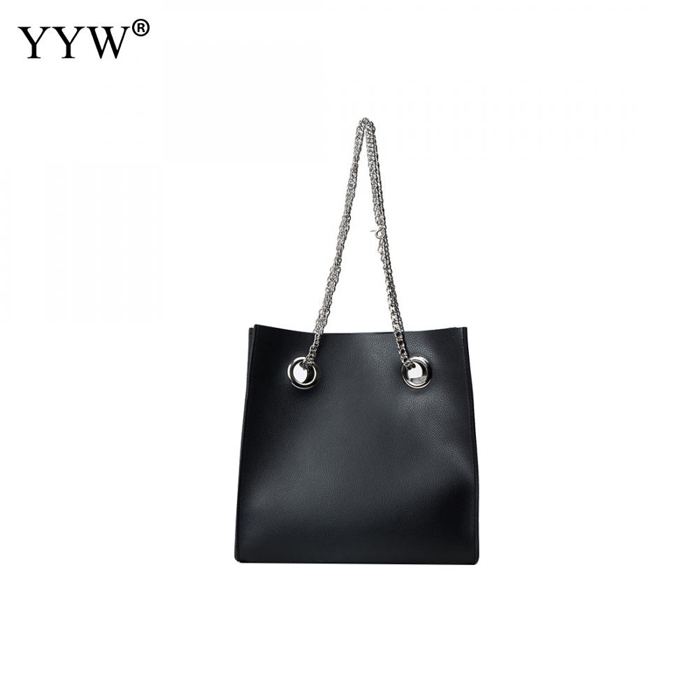 Top-Handle Bag Fashion Women Handbag Pu Leather Chain Straps Tote Bag Large Capacity Shoulder Bag Famous Brand Bolsas Feminina