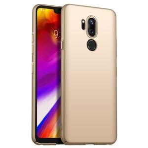 Для LG G7 чехол ThinQ роскошный высококачественный Жесткий ПК Тонкий чехол матовый защитный чехол для LG G7 ThinQ чехол для телефона