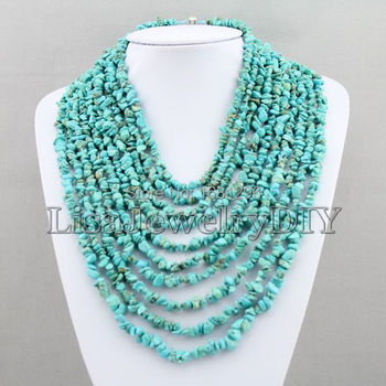 10 Rows Irregular African Necklace African Beads Necklace Bridal Party Necklace Bridesmaid Gift   HD1786