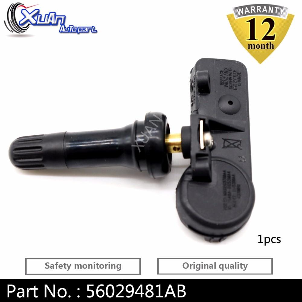 4 TPMS Tire Pressure Monitoring Sensor for Dodge Jeep Chrysler 56029398AB SET