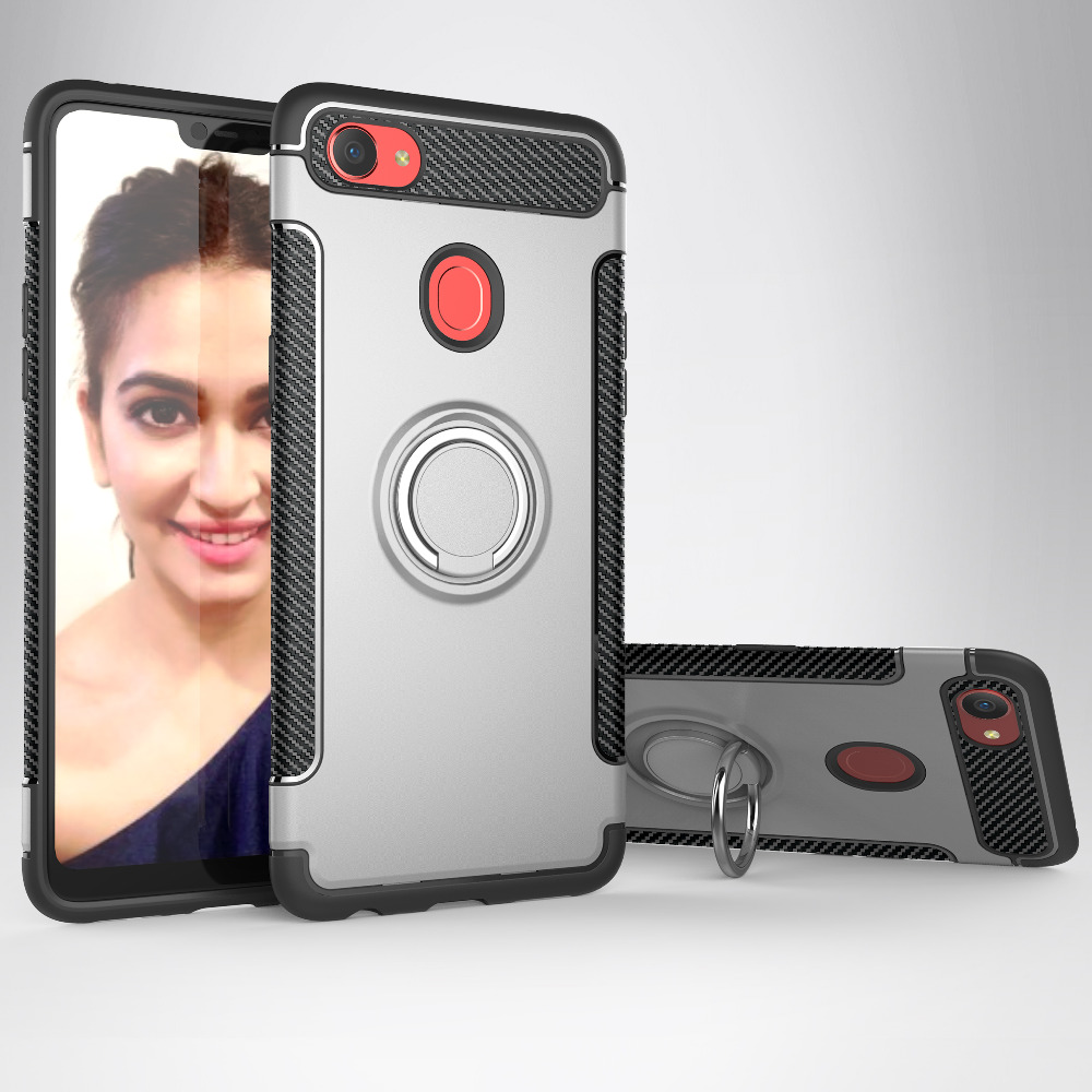 Case For OPPO F7 Case For OPPO F5 Cover Fundas Soft Silicon Hard PC Magnetic Ring Armor Cover For OPPO F5 F7 F5 A73case