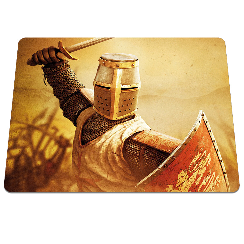 New arrival Crusade Background Pattern Soft Desktop Optical Computer Mouse Mat Mice Pads Gaming Silicone Mouse Pad