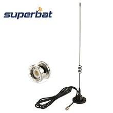 Superbat 136 174MHZ 400 470MHZ ręczny skaner radiowy antena BNC wtyczka dwuzakresowy podstawa magnetyczna antena dla Uniden BC75XLT BC