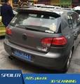 Para VW Golf Traseira Do Carro Spoiler ABS Material de Alta Qualidade asa Cor Cartilha Spoiler Traseiro Para Volkswagen Golf 6 Saqueador 2010-2013