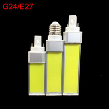 Super Bright G24/E27 Lights COB LED Bulbs Horizontal Plug Lamps 10W 12W 15W 85V-265V/110V/220V Free shipping