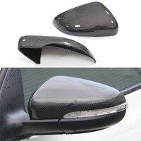 Car Accessories For Volkswagen Golf 6 1:1 Replacement Carbon Fiber Mirror Covers Caps Shell For Touran Bora Passat 2009 2015