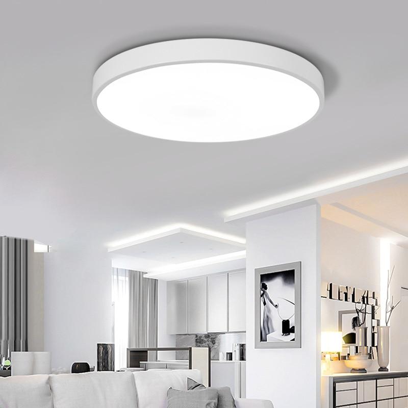 купить Modern LED Ceiling Light Lighting Fixture Lamp Surface Mount Living Room Home Decoration Kitchen Bedroom Bathroom White light недорого