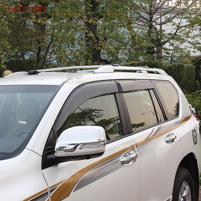 Pare-soleil de porte pour Toyota Prado 150 Land cruiser 2015 2016 noir pare-soleil pare-pluie déflecteurs de fenêtre latérale 2010-2018 - 3