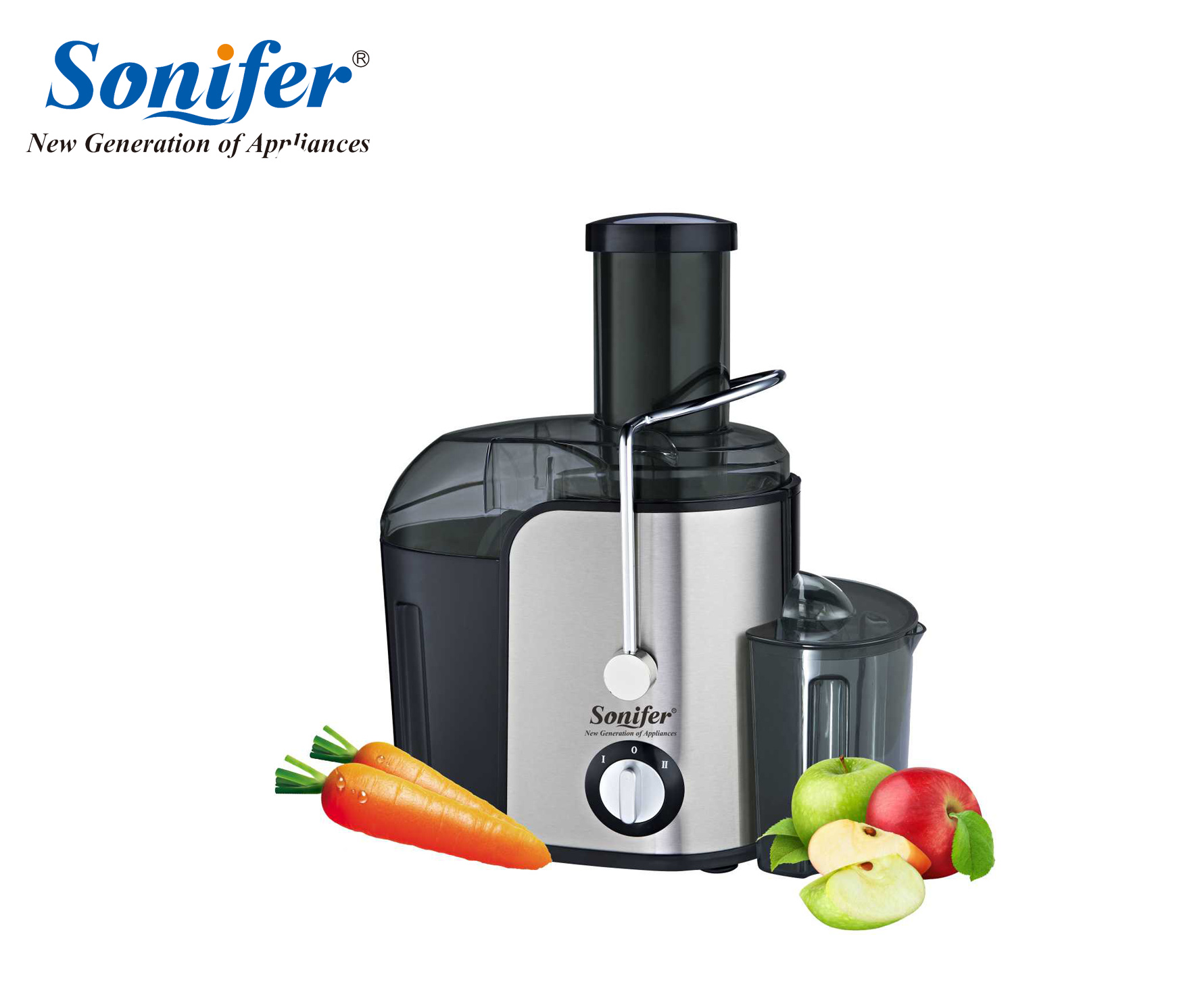Dual Speed Fruit And Vegetable Juice Extractor Removable Stainless steel Juicers Fruit Drinking Machine For Home Sonifer new model portable fruit juicer vegetable fruit juicers machine lemon juice extractor lexen 1pcs