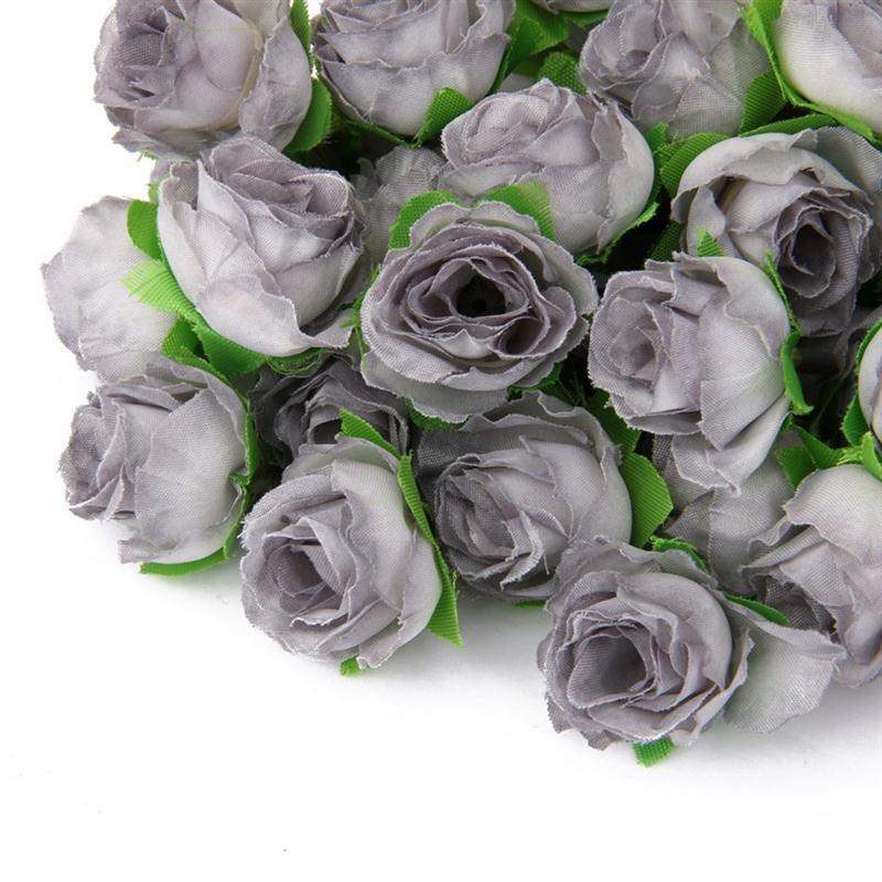 50 Pcs 3 Cm Buatan Mawar Kepala Bunga Dekorasi Pernikahan Abu Abu Artificial Rose Flower Heads Artificial Rose Flowerflower Head Aliexpress