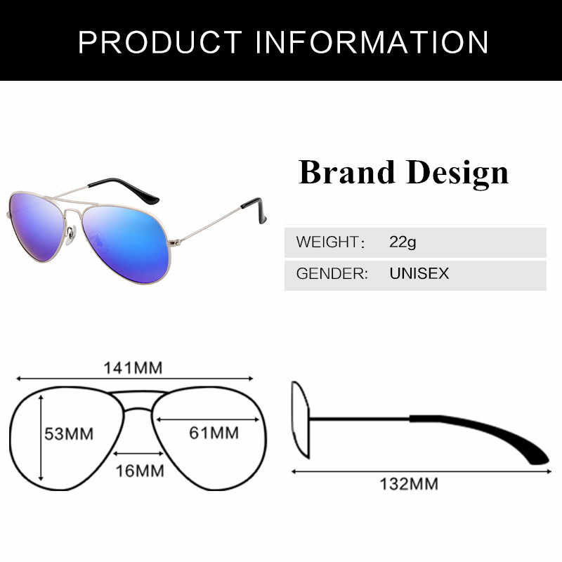 High Quality Pilot Sunglasses Men Women Brand Designer 2020 Summer Vintage Aviation Sunglass Male Sun Glasses For Mens ray bann
