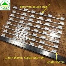 40 pz/lotto 100% Nuovo HA CONDOTTO La Striscia Bar Retroilluminazione per KONKA KDL48JT618A KDL48SS618U 35018539 35018540 6 HA CONDOTTO LA luce (6 V) 442 millimetri