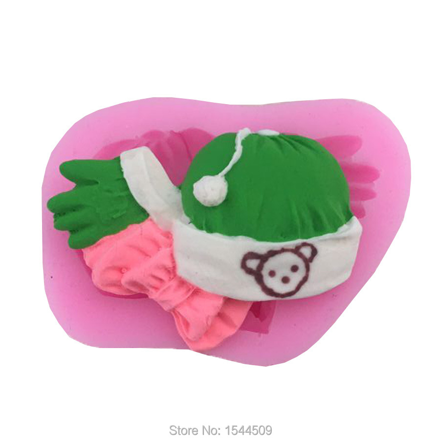 1Pcs Hat and Scarf 3D Cake Decoration Tools Food Grade Silicone Mold Chocolate Silicone Mold Cookies