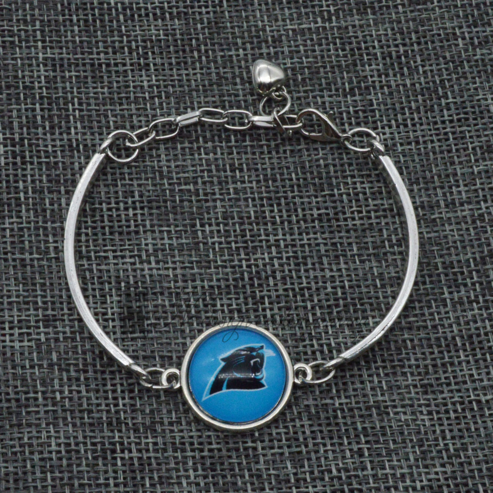 NFL Football Carolina Panthers Fashionable Gold Charm Bracelet