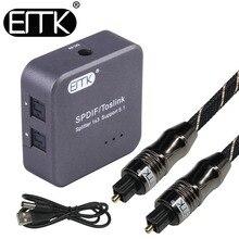 купить Optical Audio Splitter Digital SPDIF Toslink Splitter 1 input 3 Output Optical Splitter Adapter Box support 5.1 speaker DVD онлайн