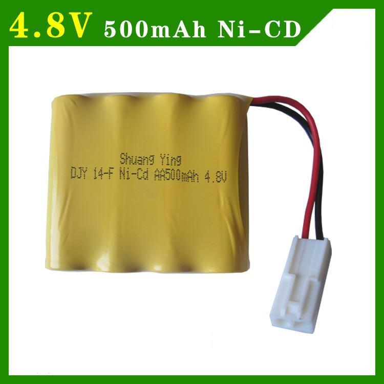 4.8V 500mAh AA 4 in 1 Ni-Cd battery set  Shuangying RC Car E519 E511 rechargeable