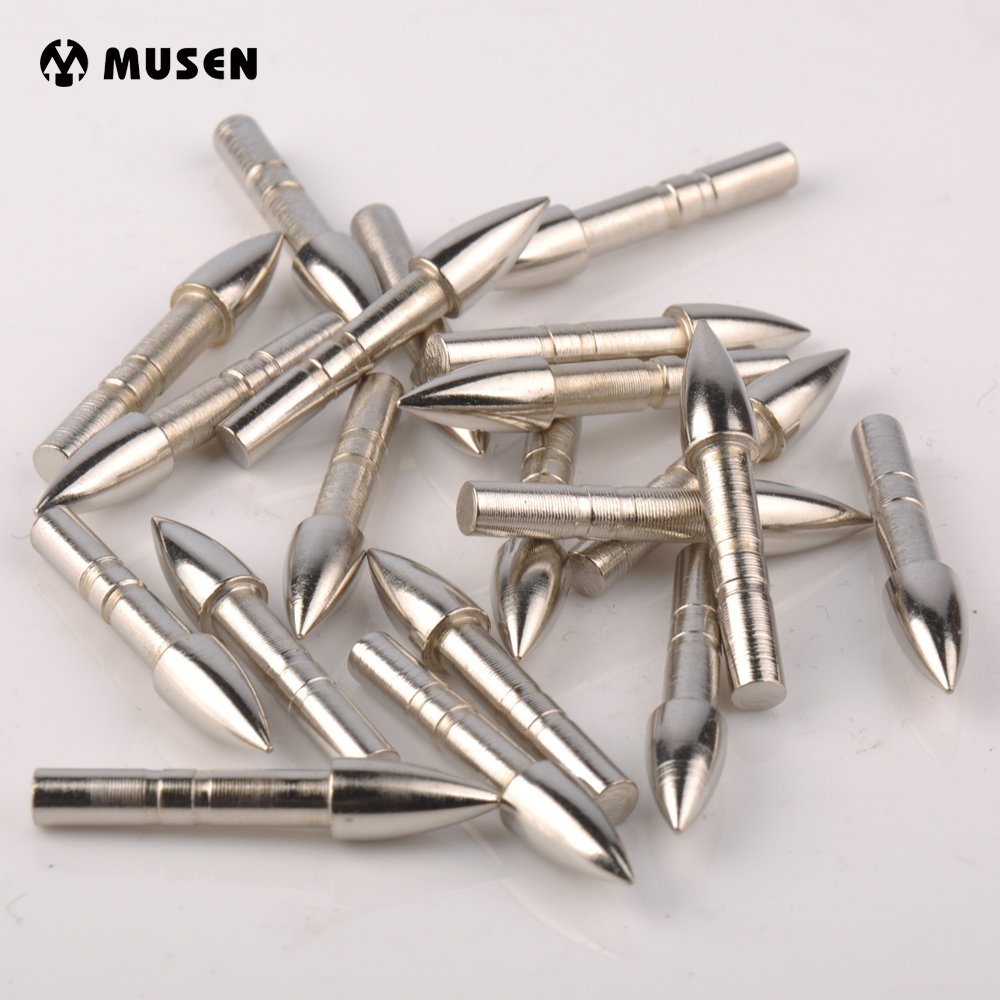 20/40/100pcs Arrow Broadheads Target Point OD 4mm Stainless Steel Broadhead Carbon Arrows Tips for Shooting Hunting Arrows