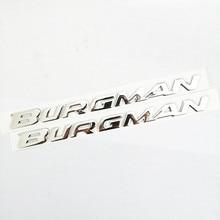 1 Juego de pegatinas reflectantes 3D cromo insignia de motocicleta calcomanías Scooter para Suzuki Burgman AN125 AN200 AN400 AN650