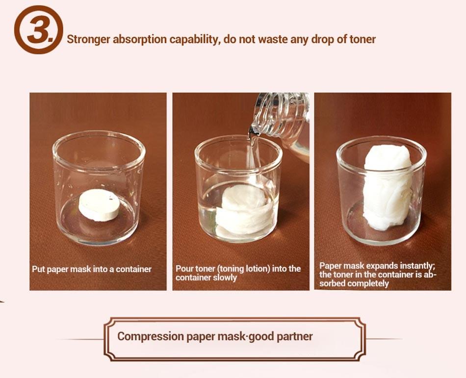 MEIKING 60PCS Skin Care DIY Facial Face Compressed Mask Women Beauty DIY Disposable Mask Paper Natural Skin Care Wrapped Masks 9