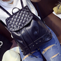 2016 Fashion Women Leather Backpacks Rivet Schoolbags for Teenage Girls Female Bagpack Lady Travel Backpack Mochila Hot Sale