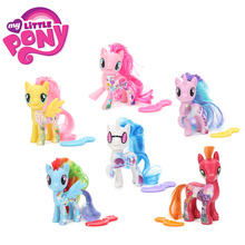 6pcs My Little Pony Toys the Movie Rainbow Dash DJ Pon-3 Big Mcintosh Pinkie Pie Rarity PVC Action Figure Collectible Model Doll