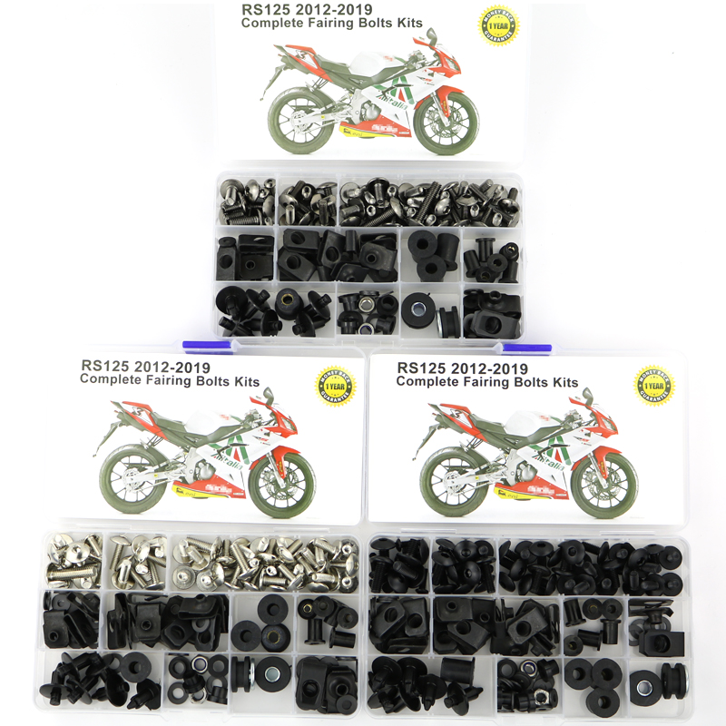 For Aprilia RS125 2012-2019 Motorcycle Cowling Full Fairing Bolts Kit Clips Speed Nut OEM Style Side Covering Bolt Steel
