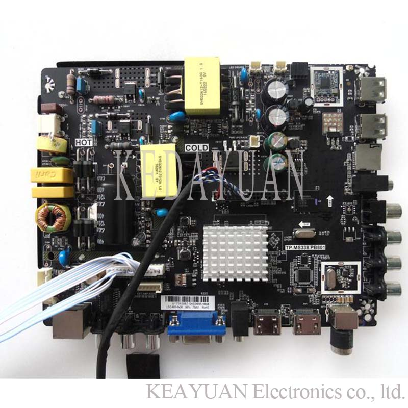 Free Shipping New And Original For Lehua Tp.ms338.pb801 Android Smart Tv Three In One Network Motherboard Work Various Screens.