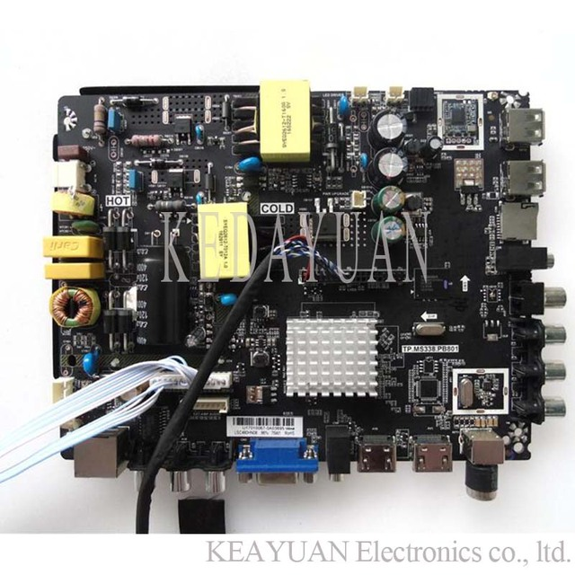 US $46 31 12% OFF|free shipping new and original for LEHUA TP MS338 PB801  Android smart TV three in one network motherboard WORK various screens -in