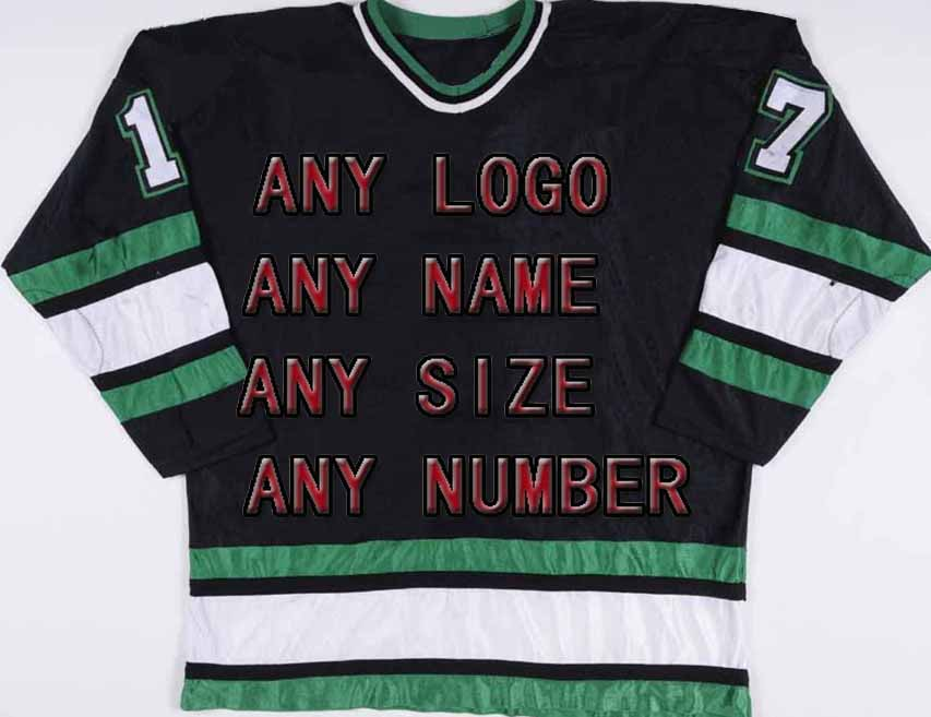 Factory OEM Ice Hockey Jerseys Team Embroidery Mens Supplier Tackle Twill Player Jersey Wholesale shirt Black/Green/White 20pcs lot 6r385p to252