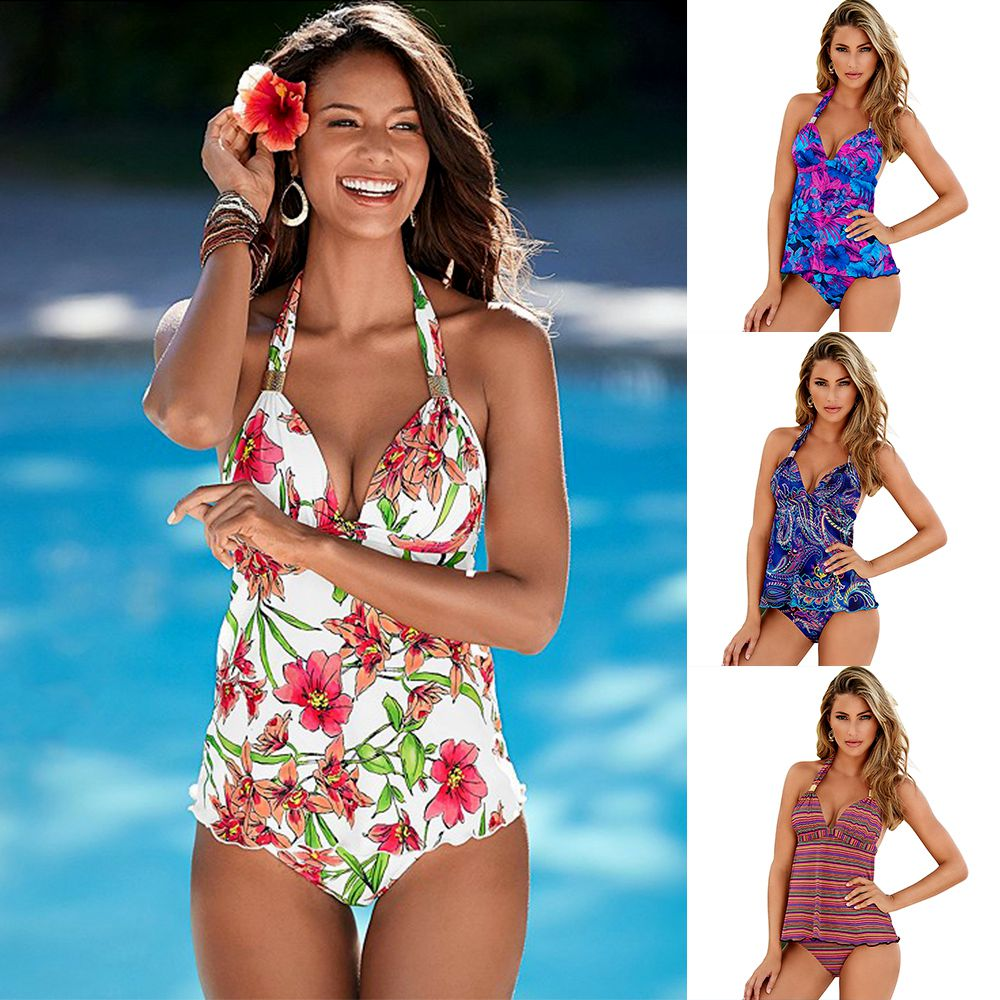Useful Tankini Plus Size Swimwear Women Brazilian Swimming Suit For Women Two Piece Swimsuit Girls Bathing Suit Maillot De Bain Femme High Quality And Inexpensive Sports & Entertainment