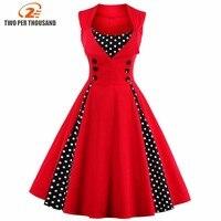 S-5xl женское летнее плиссированное платье ретро винтажное 50 S 60 S рокабилли точка качели Летняя женская одежда Элегантная туника Vestido