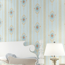Euroean Rustic Strip Wall Papers Home Decor Floral Wallpapers Stripe for Living Room Bedroom Walls Decorative carta da parati