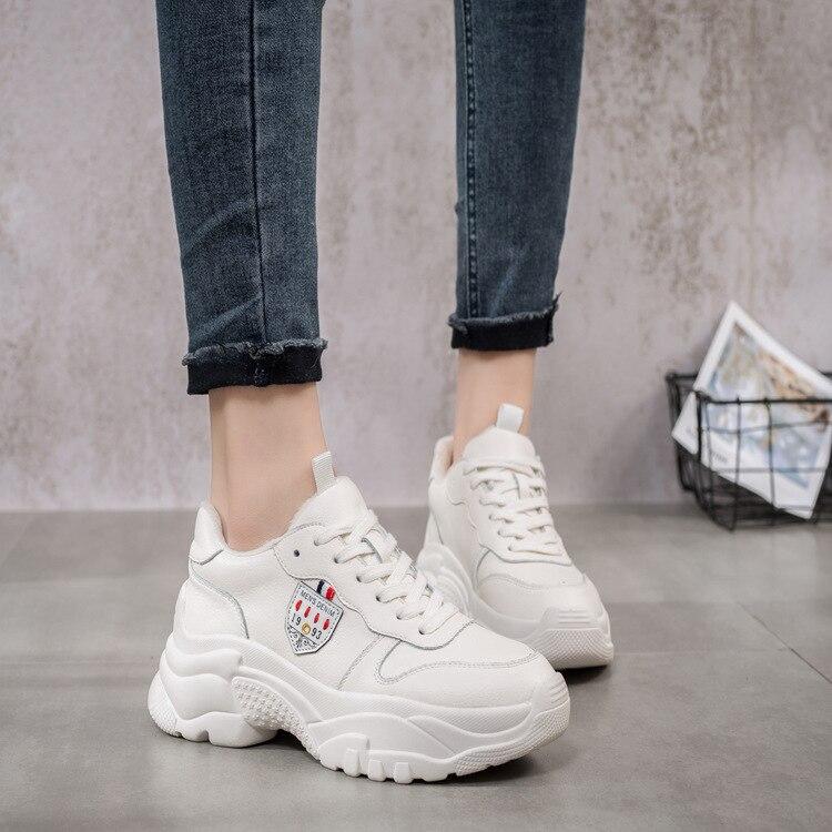 Deporte Las Invierno Mujeres Calzado Marca Chaussure Señora Zapatillas Mujer 2018 Zapatos Con Moda Jookrrix Piel De Casual Plataforma Beige qApxWOw