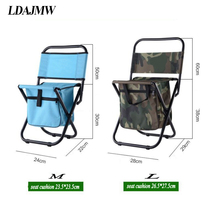LDAJMW Multifunctional Beach Backrest Chair Ice bag Thermos bag Fishing Stool Outdoor leisure Chair Travel Storage Cooler bag