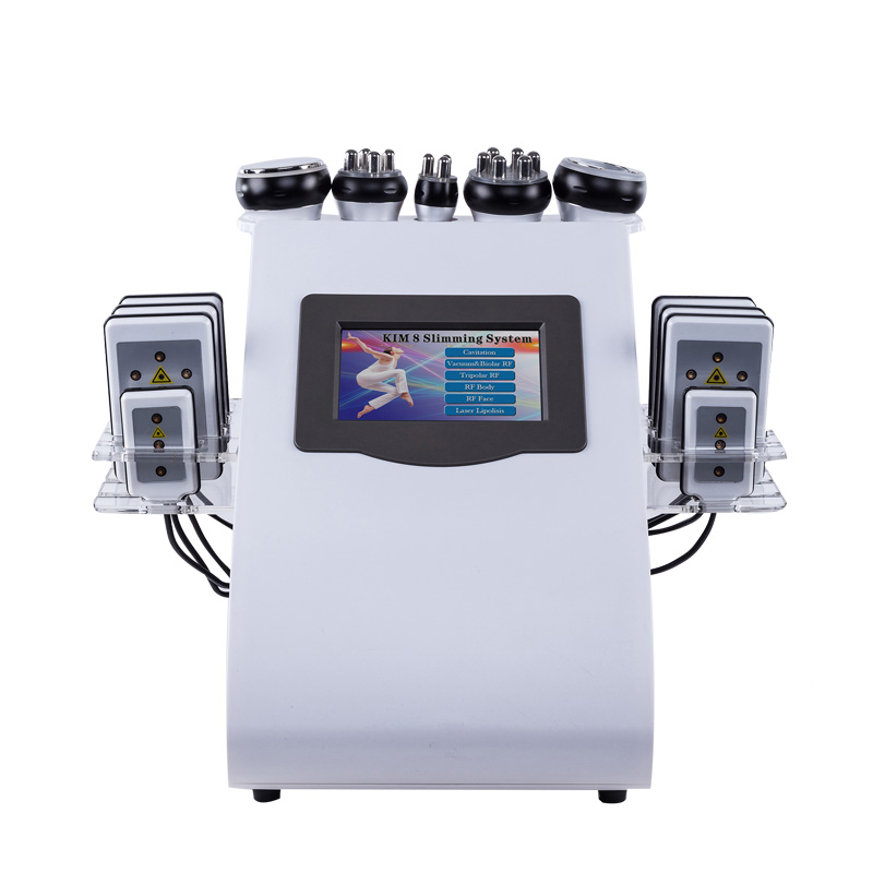 Lo más nuevo 6 en 1 cuerpo completo pérdida de grasa quema cuerpo moldeador láser adelgazamiento ultrasónico liposucción aspiradora cavitación máquina belleza uso