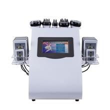 Новейший 6 в 1 полный измеритель тела сжигание жира формирователь тела лазер для похудения ультразвуковая липосакция вакуумная кавитационная машина для красоты