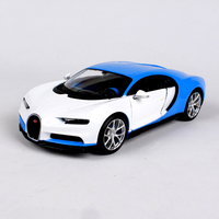 1 24 Scale Bugatti Chiron Diecast Alloy Car Modified Version White Blue Color For Collections