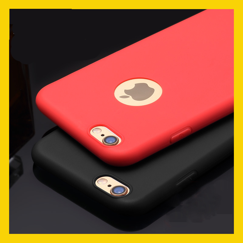 For Iphone 7 Case Colorful Red Black Soft Tpu Silicon Phone Cases