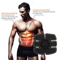 EMS Muscle Trainer Smart Abdominal Body Fitness Building Fat Burner Gymnic Belt Massage Electric Muscle Stimulation