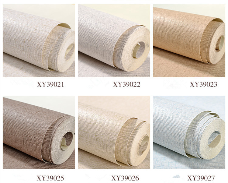 Plain Photo Mural Wallpaper Nature Horizontal Faux Grasscloth Washable PVC Vinyl Wall Paper Roll For Living Room Home Decors image