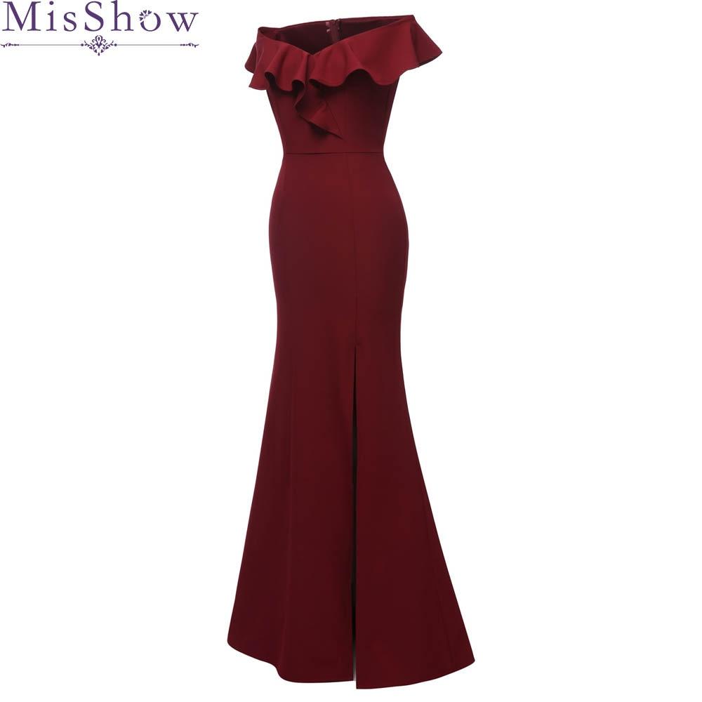 Robe De Soiree Mermaid Burgundy Black Long Evening Dress Party Elegant Vestido De Festa Long Prom
