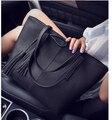 women bag 2017 fashion women leather handbag brief shoulder bags gray /black large capacity luxury handbags women bags designer