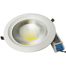 2018 dimmable 110v/220v white 4000k   3W 5W 7W 9W 15W 20W 30W  cob LED downlight  Recessed LED Ceiling lamp  Spot Led led lamp